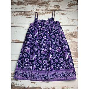 Gap Kids Purple Flower Vine Tank Dress 12
